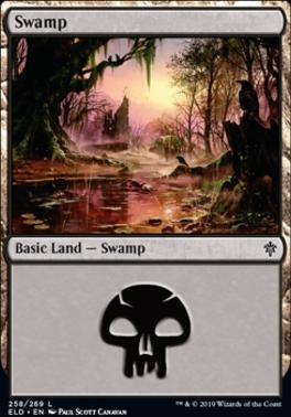 Throne of Eldraine: Swamp (258 A)