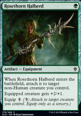 Throne of Eldraine: Rosethorn Halberd
