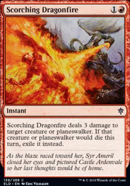 Throne of Eldraine: Scorching Dragonfire