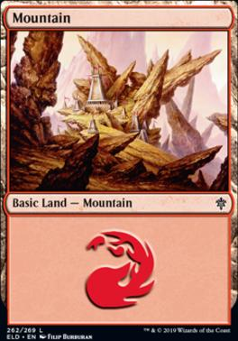 Throne of Eldraine: Mountain (262 A)