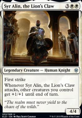 Throne of Eldraine: Syr Alin, the Lion's Claw
