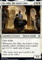 Throne of Eldraine Foil: Syr Alin, the Lion's Claw