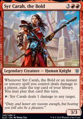 Throne of Eldraine: Syr Carah, the Bold