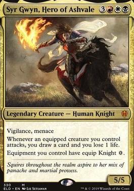 Throne of Eldraine: Syr Gwyn, Hero of Ashvale (Brawl Deck Card)