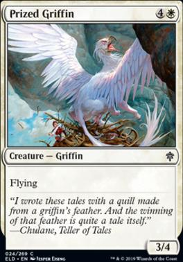 Throne of Eldraine Foil: Prized Griffin