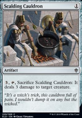 Throne of Eldraine Foil: Scalding Cauldron