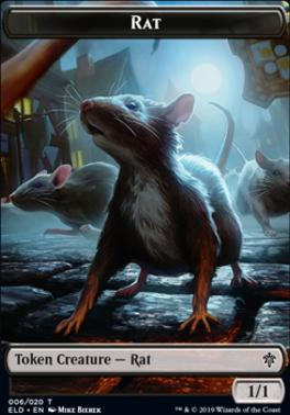 Throne of Eldraine Foil: Rat Token
