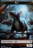 Throne of Eldraine Foil: Rat Token
