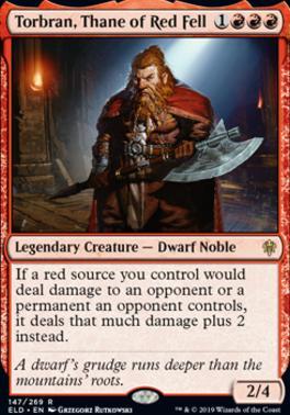 Throne of Eldraine: Torbran, Thane of Red Fell