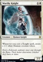 Throne of Eldraine Foil: Worthy Knight