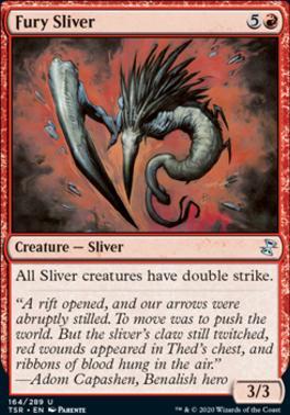 Time Spiral Remastered Foil: Fury Sliver