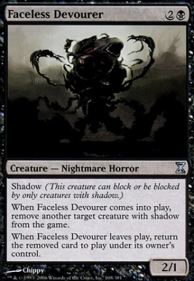 Time Spiral Foil: Faceless Devourer