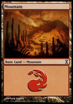 Time Spiral: Mountain (297 D)