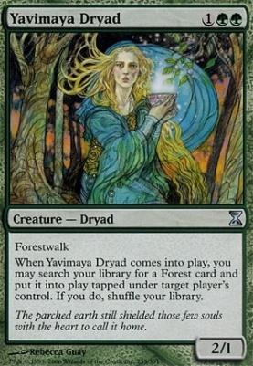 Time Spiral Foil: Yavimaya Dryad