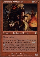 Torment Foil: Possessed Barbarian