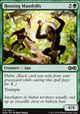 Ultimate Masters Foil: Hooting Mandrills