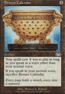 Unglued: Bronze Calendar