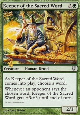 Unhinged Foil: Keeper of the Sacred Word