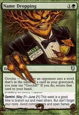 Name Dropping | Unhinged | Card Kingdom