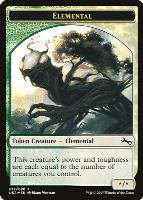 Unstable: Elemental Token (Full Art - White/Green)