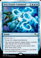 Unstable: Very Cryptic Command (B 'Untap two target permanents')