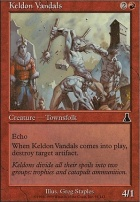 Urza's Destiny Foil: Keldon Vandals