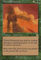 Urza's Destiny Foil: Thorn Elemental