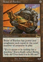 Urza's Legacy Foil: Beast of Burden