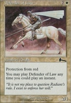 Urza's Legacy Foil: Defender of Law