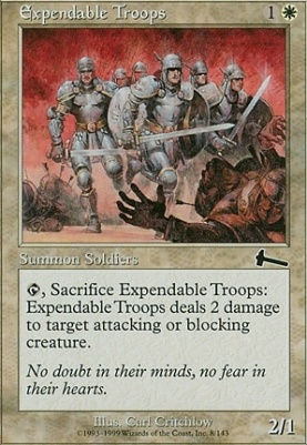 Urza's Legacy Foil: Expendable Troops