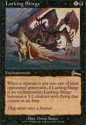 Urza's Legacy Foil: Lurking Skirge