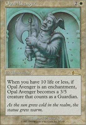Urza's Legacy Foil: Opal Avenger