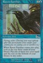 Urza's Legacy Foil: Raven Familiar
