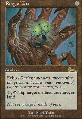 Urza's Legacy Foil: Ring of Gix