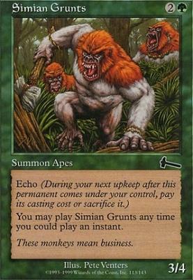 Urza's Legacy: Simian Grunts