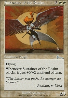 Urza's Legacy Foil: Sustainer of the Realm