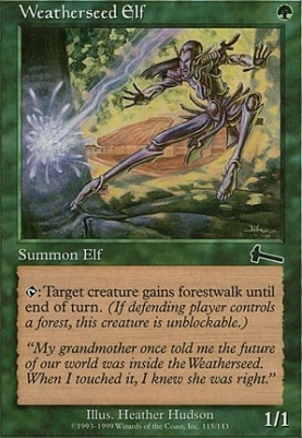 Urza's Legacy Foil: Weatherseed Elf