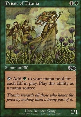 Magic The Gathering 1 x Priest of Titania