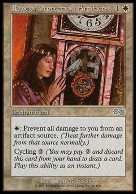 Magic The Gathering Cards Urza S Saga Rune Of Protection