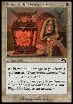 Urza's Saga: Rune of Protection: Red