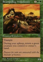 Visions: Stampeding Wildebeests