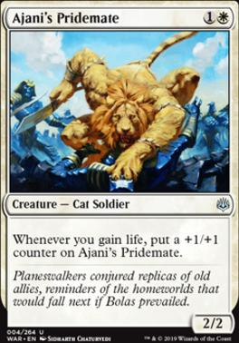 War of the Spark Foil: Ajani's Pridemate