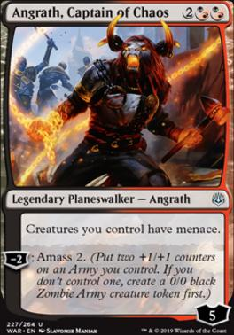 War of the Spark Foil: Angrath, Captain of Chaos