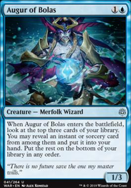 War of the Spark Foil: Augur of Bolas
