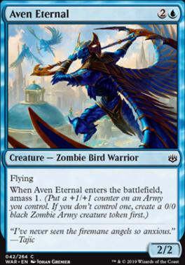 War of the Spark Foil: Aven Eternal