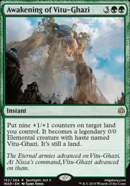 War of the Spark Foil: Awakening of Vitu-Ghazi