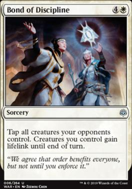 War of the Spark Foil: Bond of Discipline
