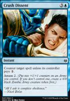 War of the Spark Foil: Crush Dissent