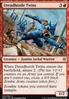 War of the Spark Foil: Dreadhorde Twins