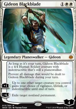 War of the Spark Foil: Gideon Blackblade